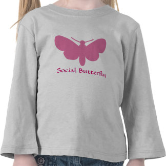 social butterfly t shirts