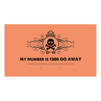 "Social Cards: ""My Number is 1300 GO AWAY"" Business Card"