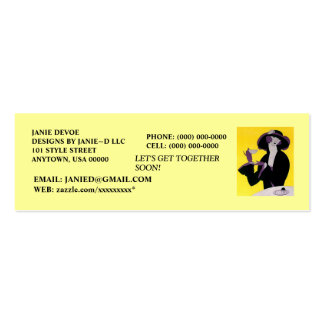 SOCIAL ~EVENT PARTY PLANNER/PLANNING PROFILE CARDS PACK OF SKINNY BUSINESS CARDS