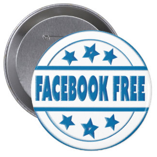 Social Facebook Free Your Custom Round Badge 4 Inch Round Button