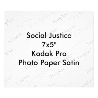 "Social Justice 7x5""  Kodak Pro Photo Paper Satin"