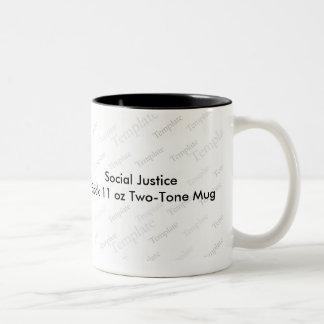 Social Justice Black 11 oz Two-Tone Mug