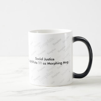 Social Justice Black White 11 oz Morphing Mug