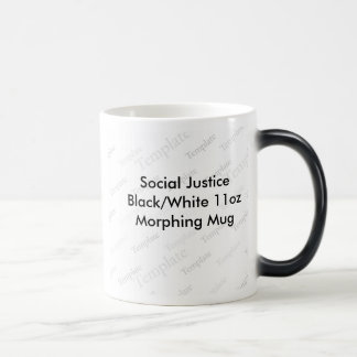 Social Justice Black White 11oz Morphing Mug