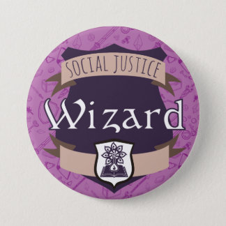 Social Justice Class Button: Wizard 3 Inch Round Button