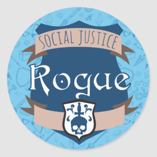 Social Justice Class Sticker: Bard Round Sticker