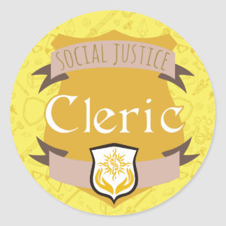 Social Justice Class Sticker: Cleric Round Sticker