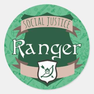 Social Justice Class Sticker: Ranger Round Sticker
