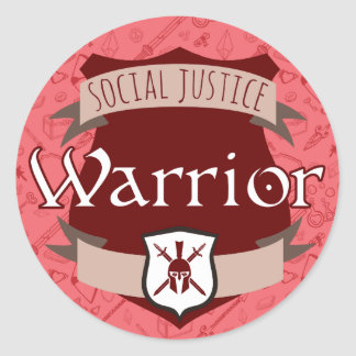 Social Justice Class Sticker: Warrior Round Sticker