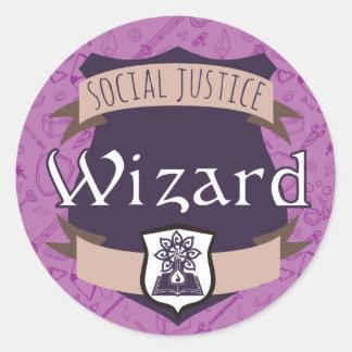 Social Justice Class Sticker: Wizard Classic Round Sticker