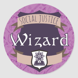 Social Justice Class Sticker: Wizard Round Sticker
