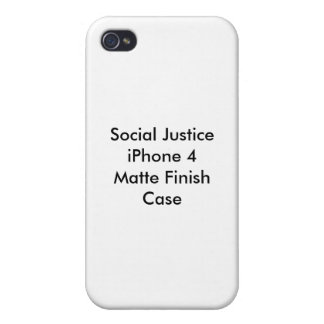 Social Justice iPhone 4 Matte Finish Case iPhone 4/4S Covers