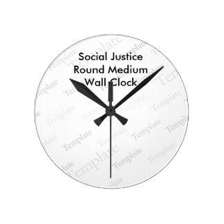 Social Justice  Round Medium Wall Clock