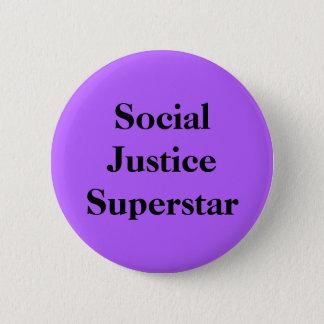 Social Justice Superstar 2 Inch Round Button