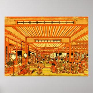Social Life in Shin Yoshiwara 1772 Poster