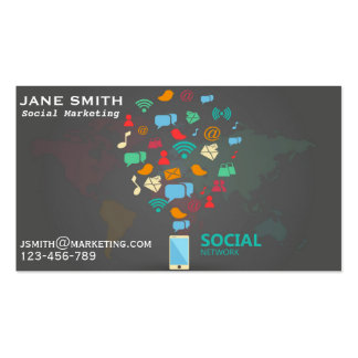 Social Marketing professional freelance Business Card Template