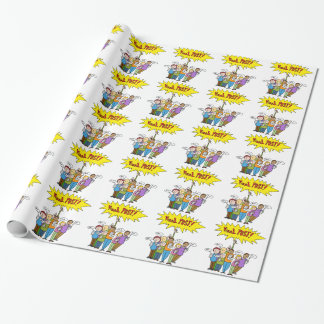 Social Media Competition Wrapping Paper