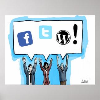Social Media FTW! Poster