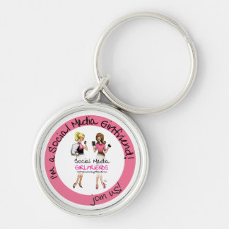 Social Media Girlfriends Keychain
