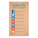 SOCIAL MEDIA ICONS SYMBOLS BUSINESS CARD