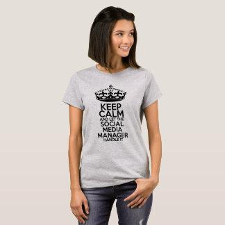 Social Media - Keep Calm T-shirt