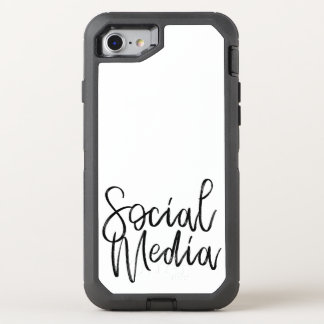 Social Media Lovers Typography OtterBox Defender iPhone 8/7 Case