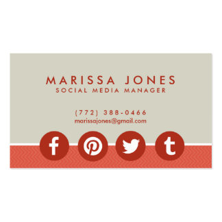 Social Media Icons Business Cards and Business Card