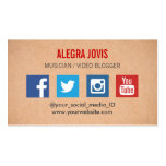 SOCIAL MEDIA MUSICIAN YOU TUBE BUSINESS CARD BUSINESS CARD TEMPLATE