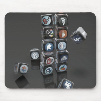 Social Media Overload Mouse Pad SOCIALUTION