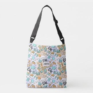 Social Media Pattern custom monogram bags