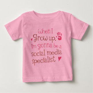 Social Media Specialist (Future) Infant Baby T-Shi Baby T-Shirt