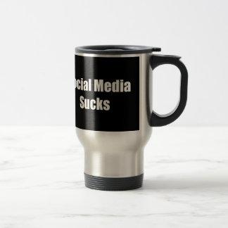 Social Media Sucks 15 Oz Stainless Steel Travel Mug