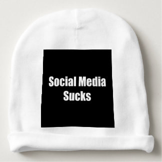 Social Media Sucks Baby Beanie