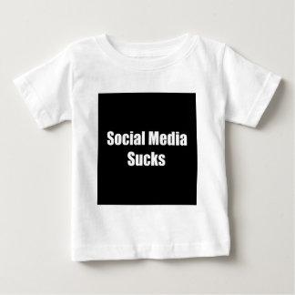 Social Media Sucks Baby T-Shirt