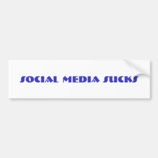 social media sucks bumper sticker