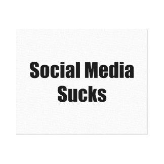 Social Media Sucks Canvas Print