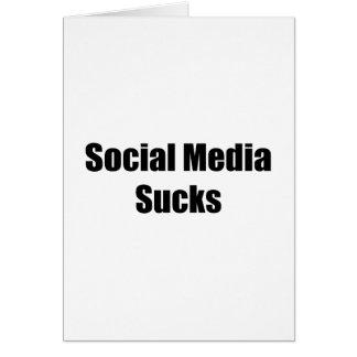Social Media Sucks Greeting Card