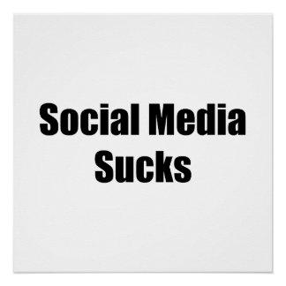 Social Media Sucks Perfect Poster