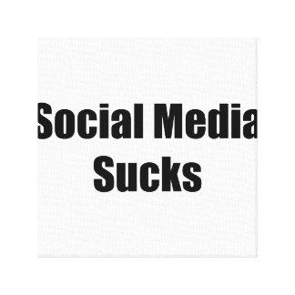 Social Media Sucks Stretched Canvas Print