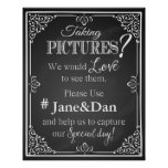 Social media wedding sign chalkboard print