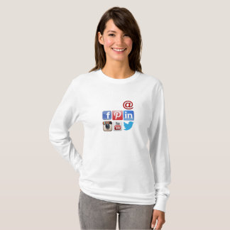 Social Media Women's Basic Long Sleeve T-Shirt