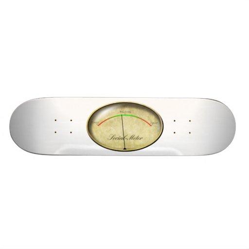 Social-Meter Skate Board Deck