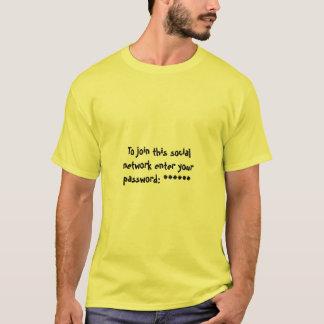 Social Network Password T-Shirt