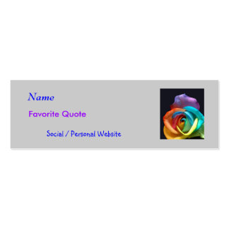 Social Network Profile Card Mini Business Card