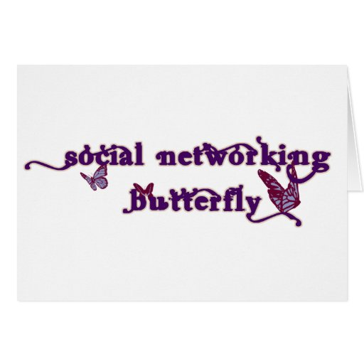 Social Networking Butterfly Cards