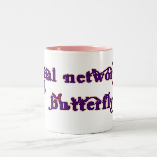 Social Networking Butterfly Mugs
