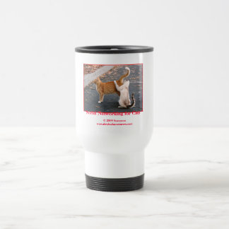 Social Networking for Cats Travel Mug