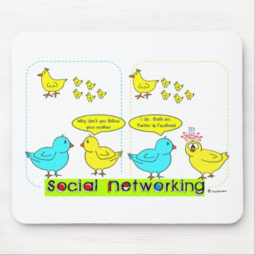 Social Networking Mousepads