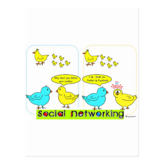 Social Networking Postcard