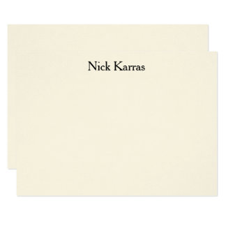 """Social Notecard with Professional Name 4.5"""" X 6.25"""" Invitation Card"""